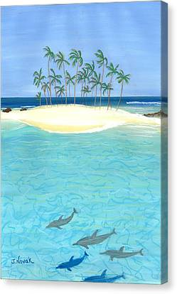 Tropical Tranquility  Canvas Print by Jackie Novak
