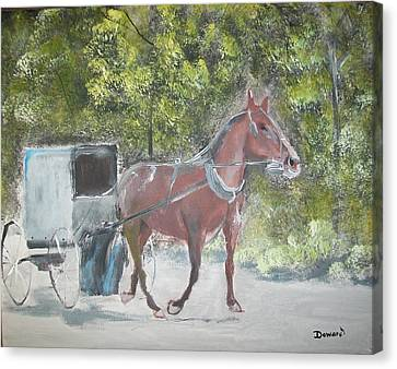 Trotting Along Canvas Print