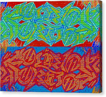 Trouble Tapestry 2 Canvas Print by Randall Weidner