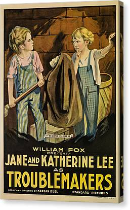 Troublemakers, Jane Lee, Katherine Lee Canvas Print by Everett