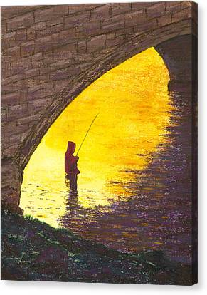 Trout Fishing Canvas Print by Garry McMichael