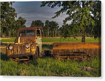 Truck And Tank 40 Canvas Print by Douglas Barnett