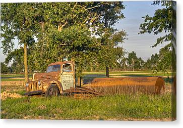 Truck And Tank 66 Canvas Print by Douglas Barnett
