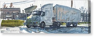 Truck Panorama Canvas Print by Donald Maier