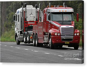 Truck Tow Canvas Print by Joanne Kocwin