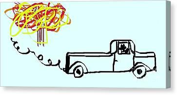 Jordan Canvas Print - Trucking by Jeannie Atwater Jordan Allen