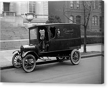 Trucks. Dermonets Ford Delivery Truck Canvas Print by Everett