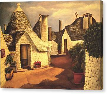 Trulli 2 Canvas Print by Sarah Farren