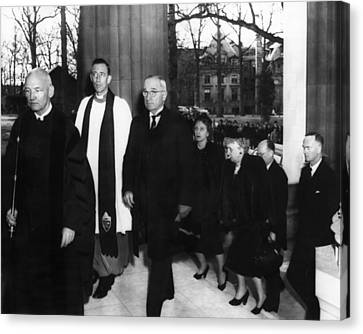Truman Presidency. From Left Cathedral Canvas Print by Everett