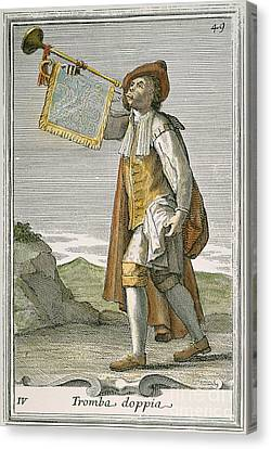 Trumpet, 1723 Canvas Print by Granger