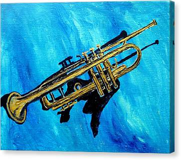 Trumpet Canvas Print by Amanda Dinan