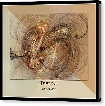 Computer Generated Canvas Print - Trumpet by Betsy Knapp