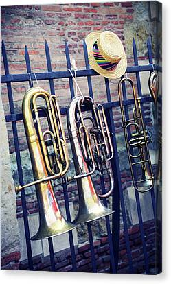 Trumpet Canvas Print by Christian Rivière