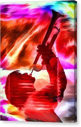 Trumpet Player Canvas Print by David Ridley