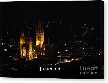 Truro Cathedral Illuminated Canvas Print by Brian Roscorla