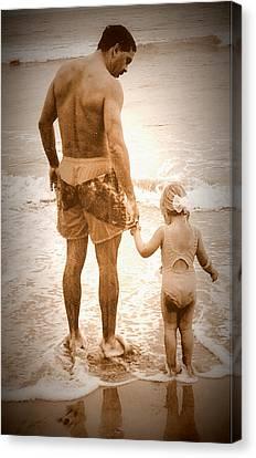 Trusting Daddy Canvas Print