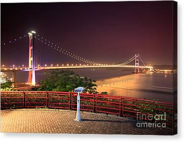 Island Stays Canvas Print - Tsing Ma Bridge by MotHaiBaPhoto Prints