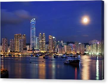 Tsuen Wan Bay Canvas Print by Tommy Au Photo