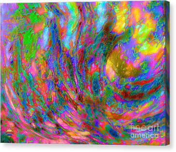 Tsunami Canvas Print by Vidka Art