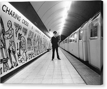 Tube Train Murals Canvas Print by Evening Standard
