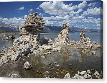 Tufa And Clouds Canvas Print