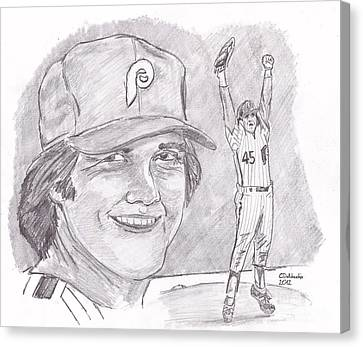 Tug Mcgraw Canvas Print by Chris  DelVecchio