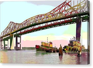 Tugboats Mcallister Canvas Print by Charles Shoup