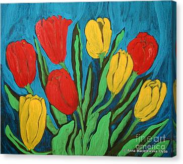 Tulips Canvas Print by Anna Folkartanna Maciejewska-Dyba