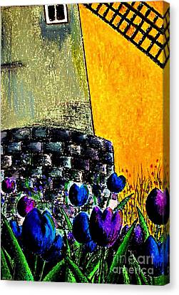 Tulips By The Mill Canvas Print by Aisa  Mijeno