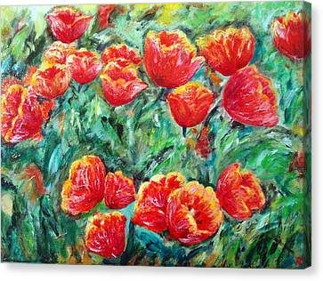 Tulips Expression Canvas Print
