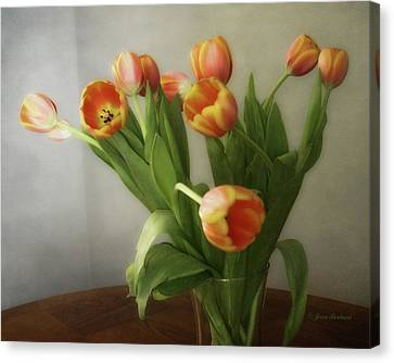 Canvas Print featuring the photograph Tulips by Joan Bertucci