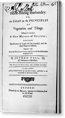 Tull: Title Page, 1762 Canvas Print by Granger