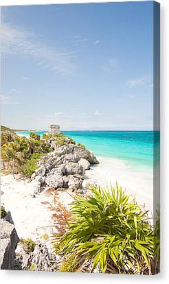 Y120907 Canvas Print - Tulum Mayan by Monica and Michael Sweet