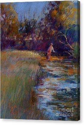 Tumbling Waters Canvas Print by Pamela Pretty