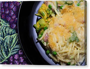 Tuna Noodle Casserole Canvas Print by Andee Design