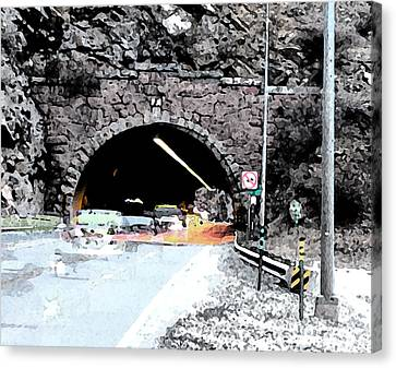 Tunnel 1 Clear Creek Canyon Canvas Print by Bill Kennedy
