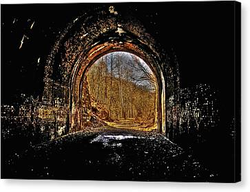 Tunnel Of Gold Canvas Print by Shirley Tinkham
