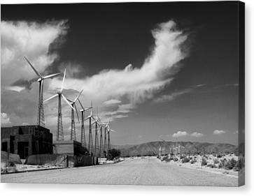 Turbine Town Palm Springs Canvas Print by William Dey