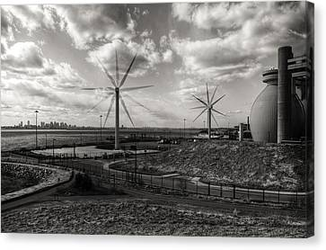 Island Stays Canvas Print - Turbines In Motion by Andrew Kubica