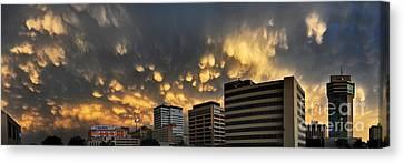 Turbulent City Canvas Print