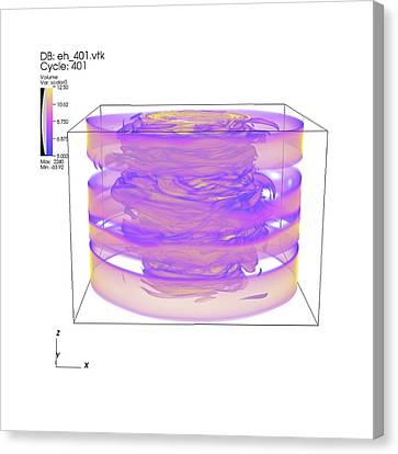 Turbulent Gas Flow Simulation Canvas Print
