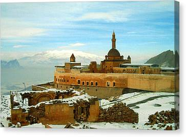 Canvas Print featuring the photograph Turkish Fortress by Lou Ann Bagnall