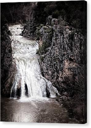 Turner Falls Roar Canvas Print by Tamyra Ayles