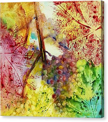 Canvas Print featuring the painting Turning Leaves by Karen Fleschler