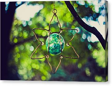 Turquoise Light Canvas Print by Sara Frank
