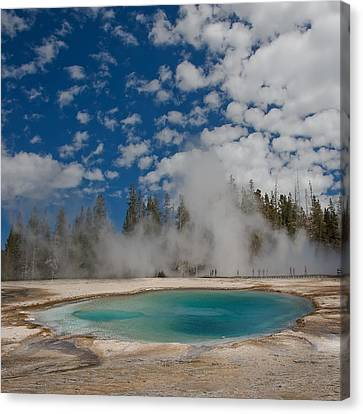 Turquoise Pool Canvas Print by Amateur photographer, still learning...