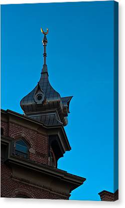 Canvas Print featuring the photograph Turret At Tampa Bay Hotel by Ed Gleichman