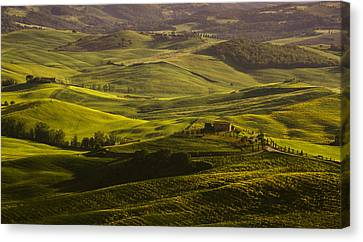 Tuscan Hills Canvas Print by Andrew Soundarajan