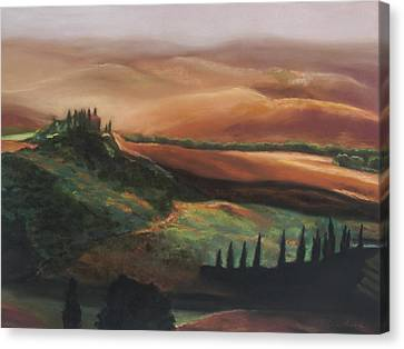 Tuscan Hills Canvas Print by Elise Okrend