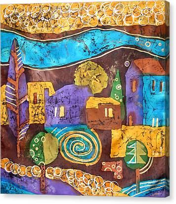 Tuscan Landscape Canvas Print by Sandra Kern